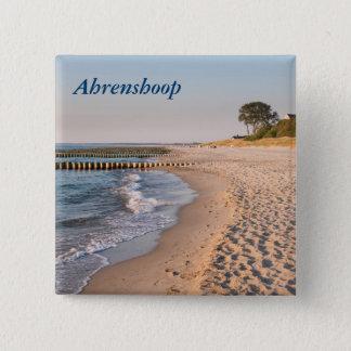 Ahrenshoop Beach 2 Inch Square Button