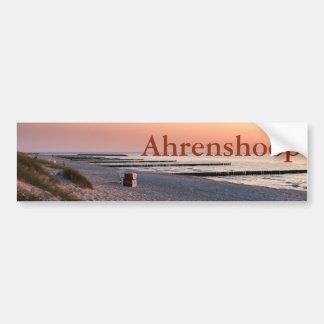 Ahrenshoop beach sunset bumper sticker