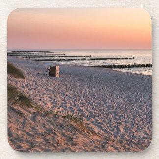 Ahrenshoop beach sunset coaster