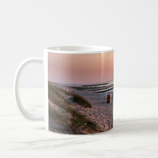 Ahrenshoop beach sunset coffee mug