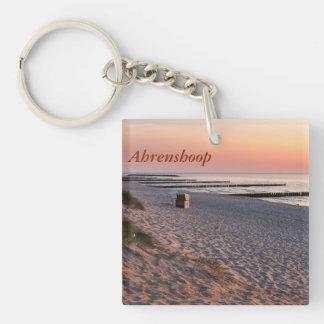 Ahrenshoop beach sunset keychain