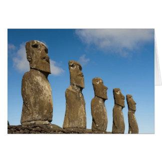 Ahu Akivi, Rapa Nui, Easter Island, Chile 2 Card
