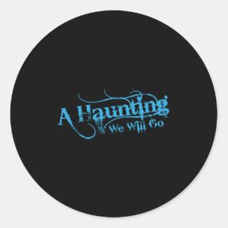 AHWWG Blue Logo Black Background(1 Inch Logo) Classic Round Sticker