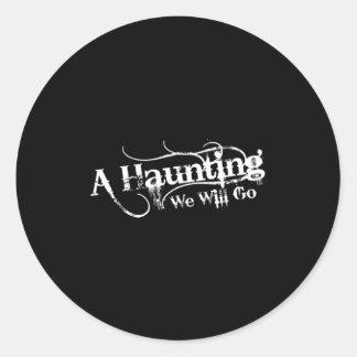 AHWWG White Logo Black Background(1 Inch Logo) Round Sticker