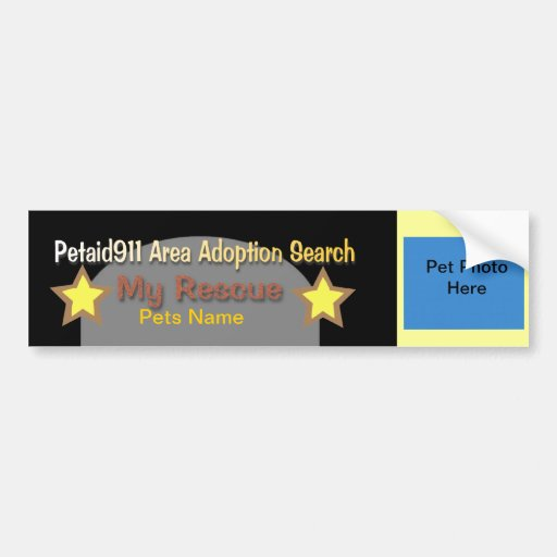 """Aid911 Adoption Search Volunteers Wanted"" Bumper Sticker"