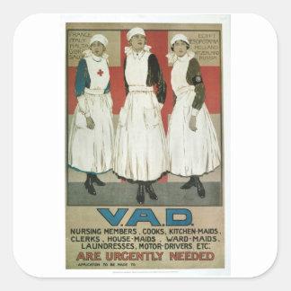 Aid Detachment 1917_Propaganda Poster Square Sticker