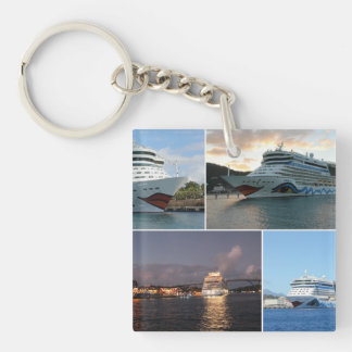 AIDAluna Cruise Ship Collage Keychain