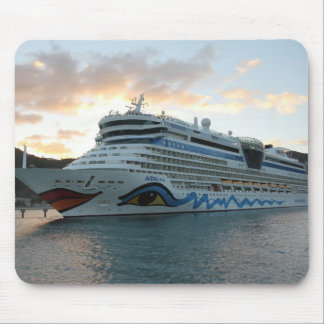 AIDAluna Cruise Ship in Road Town on Tortola Mouse Pad