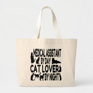 Aide médical d'amoureux des chats sac en toile jumbo