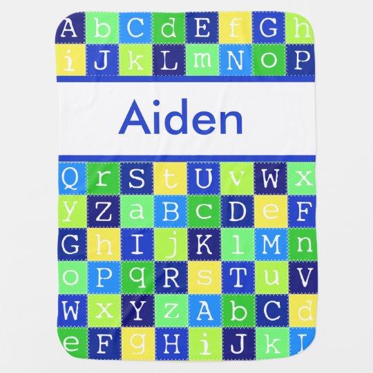 Aiden's Personalized Blanket Stroller Blankets