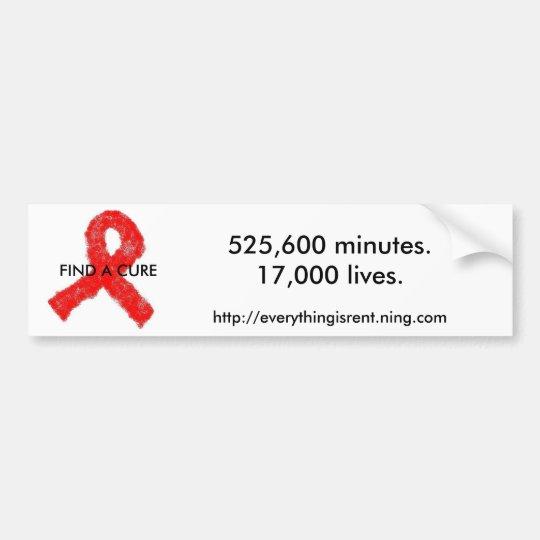 AIDS Awareness bumper sticker