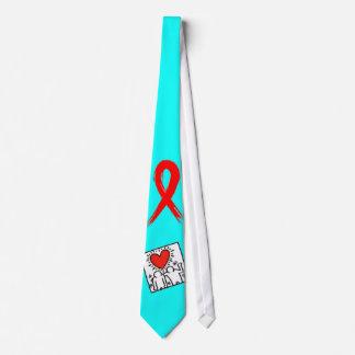 AIDS Awareness Ribbon Tie