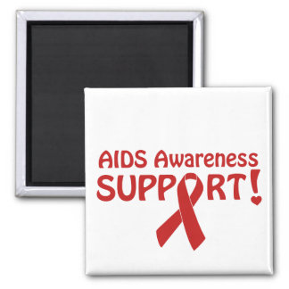 AIDS Awareness Support! Square Magnet