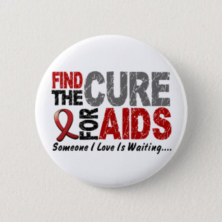 AIDS / HIV Find The Cure 1 2 Inch Round Button