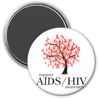 AIDS/HIV Tree 3 Inch Round Magnet