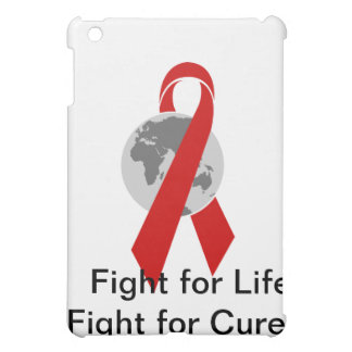 Aids Logo Fight for Life Fight for Cure iPad Mini Cover