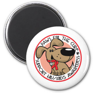 AIDS Paws for the Cure 2 Inch Round Magnet