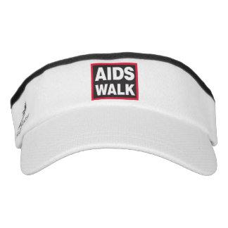 AIDS WALD NYC 2017 Knit Visor, White Visor