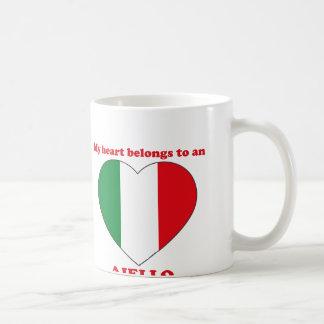 Aiello Classic White Coffee Mug