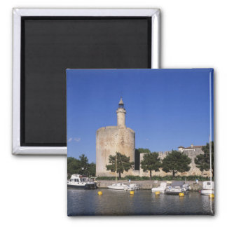 Aigues Mortes, Rhone and Sete Canal, Gard, Square Magnet