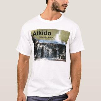 Aikido Flow Like Water (with Aikido kanji) T-Shirt