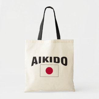 Aikido Japan Flag Tote Bag
