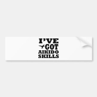 Aikido Martial Arts designs Bumper Sticker