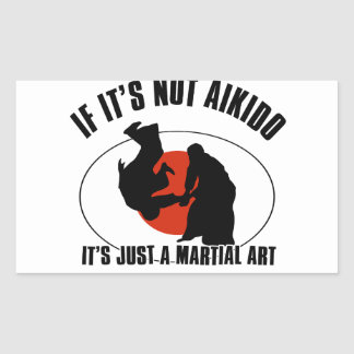 aikido martial design sticker