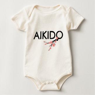 Aikido Sakura Text Baby Bodysuit