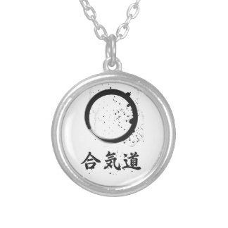 Aikido Zen Ink Silver Plated Necklace