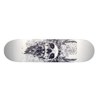 Ailes de conception de tatouage de planche à roule skateboards