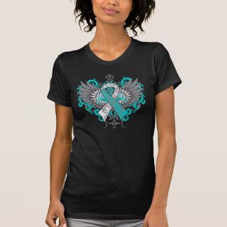 Ailes de cool de cancer du col de l'utérus tee-shirts