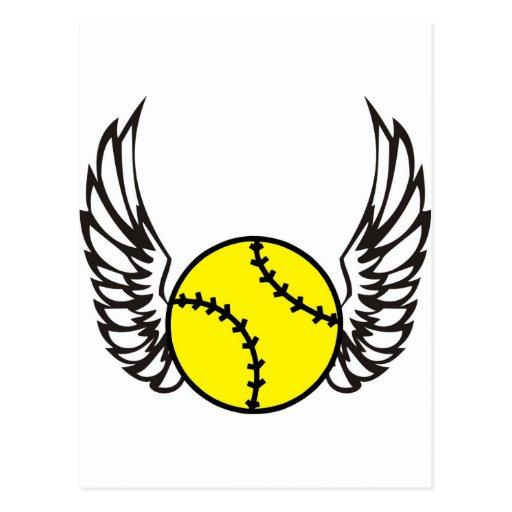 ailes du base-ball carte postale