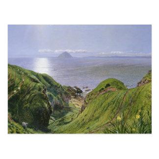 Ailsa Craig and the Isle of Arran, Scotland Postcard