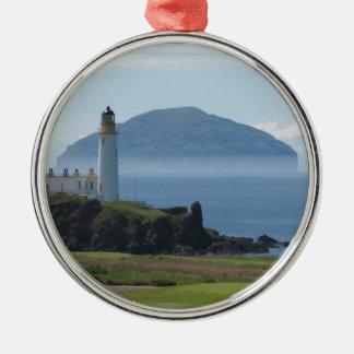 Ailsa Craig, Turnberry Lighthouse Metal Ornament