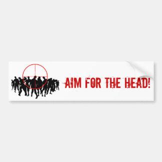 AIM FOR THE HEAD! target bumpersticker Bumper Sticker