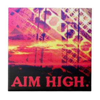 Aim High:Motivational Tile