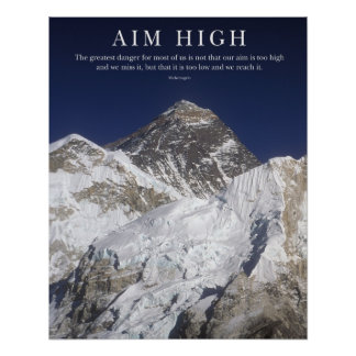Aim High - Mt Everest Poster