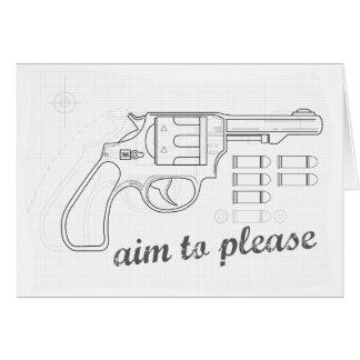 Aim to please card