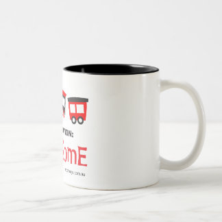 Aim Train - destination: awesome - mug