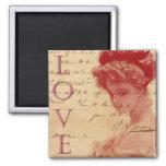 Aimant antique de lettre d'amour