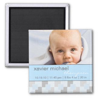 Aimant bleu de photo de bébé