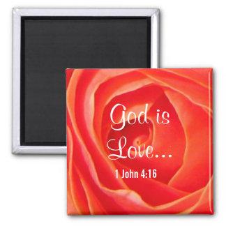 Aimant chrétien rose