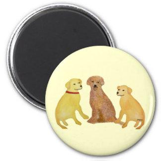 Aimant d or de chiens d arrêt de Labrador