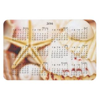 Aimant de 2014 coquillages de calendrier joli magnets rectangulaires