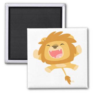 Aimant de attaque subit de lion de bande dessinée