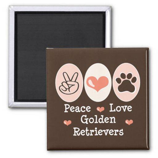 Aimant de chiens d'arrêt d'or d'amour de paix