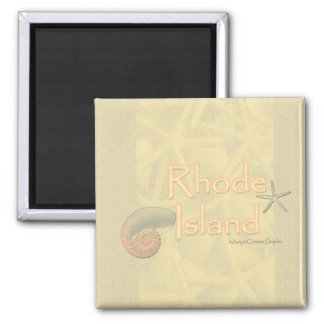 Aimant de coquillage d'Île de Rhode
