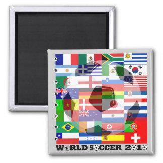 Aimant de drapeau du football de coupe du monde