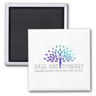 Aimant de logo de sauge et de synergie